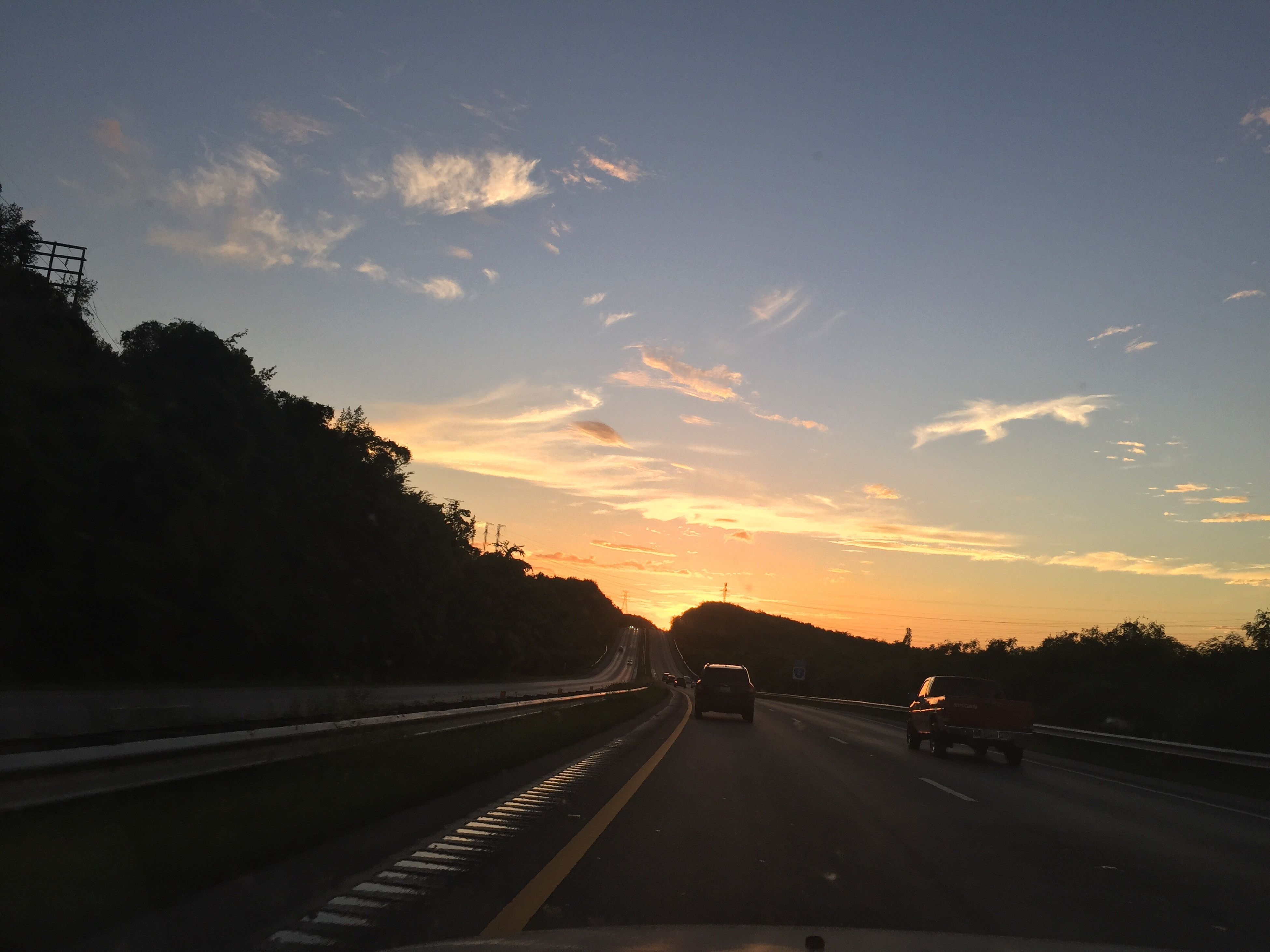 sunset, transportation, road, sky, the way forward, no people, outdoors, tree, beauty in nature, nature, day