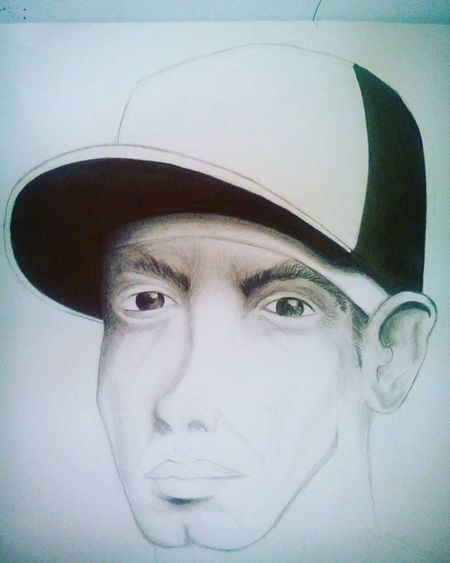 Marshall Bruce Methers III, vulgo Eminem! 🖕Em progresso...😜 👿 Drawing Draw Portrait Estudos Art Caricature Inprogress