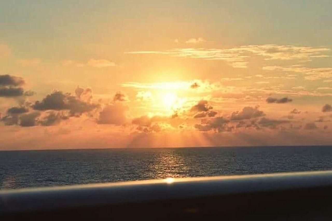 Sunrise Jamaican Sunrise Norwegiancruiseline From The Balcony Norwegian Cruise Jamaican