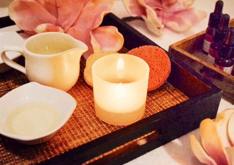 Candle Close-up Burning Freshness Table Indoors  Flame No People Food And Drink Food Day Spa Pamper Beuaty