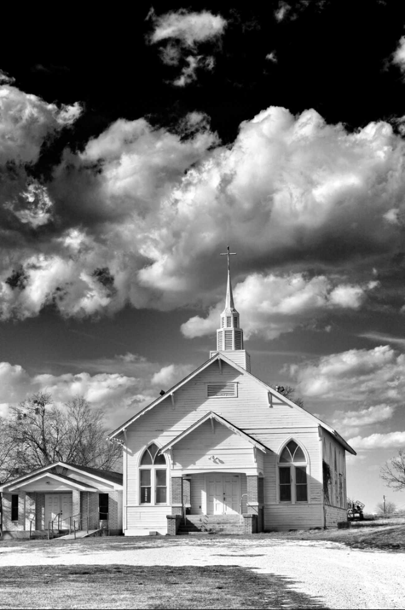 Blackandwhite Church Eye4photography  EyeAmRuralAmerica Texas Sky Bw_collection EE_Daily: Black Sunday
