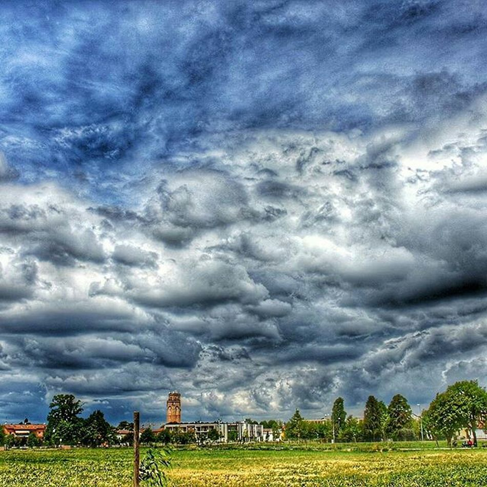 Cloud - Sky Sky Tree Storm Cloud Nature Dramatic Sky Beforetherain Green Color Beauty In Nature No People Picoftheday