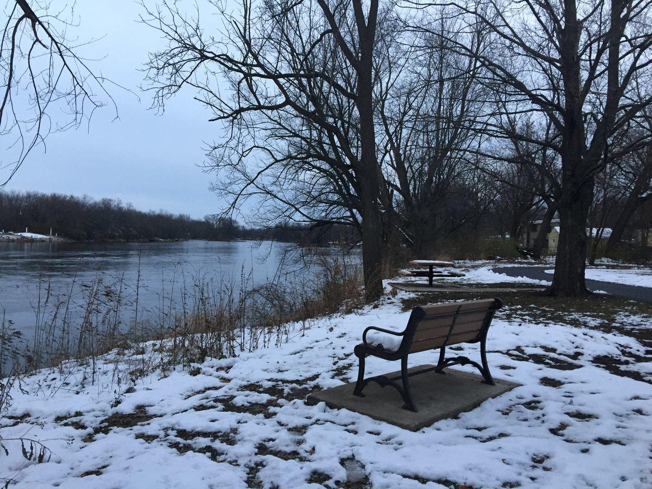 Winter Wonderland Waubonsie Creek, Oswego, Illinois Winter Wintertime Winter Trees Winterwonderland Winter Landscape Oswego, IL