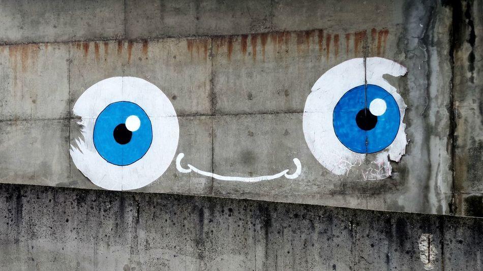 Street Photography Street Art Blue Eyes Wall Art Sneak Peek Minimalism Urban Exploration
