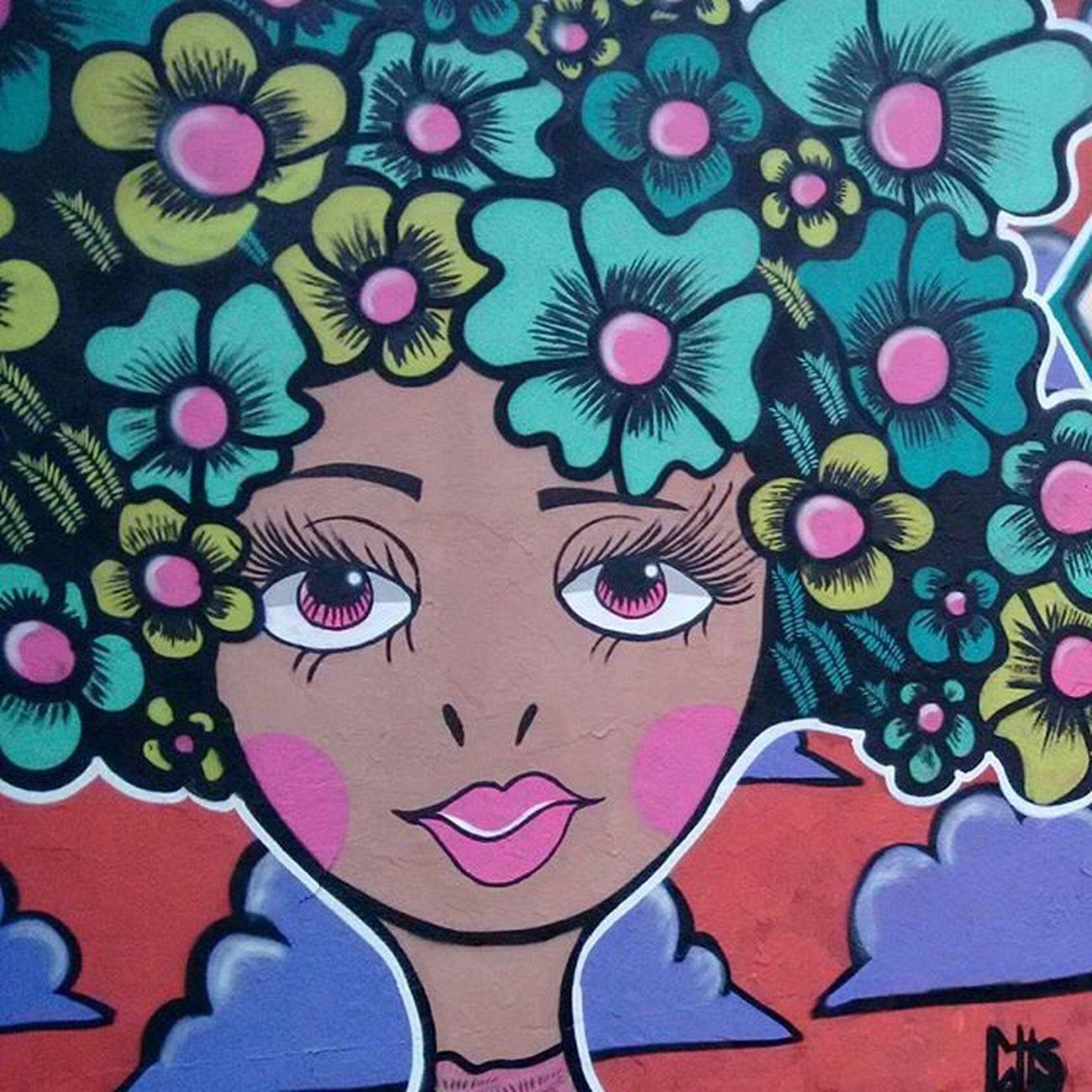 07h03 Grafite Artederua Saovicente Globalstreetart Arte Flowers Streetart