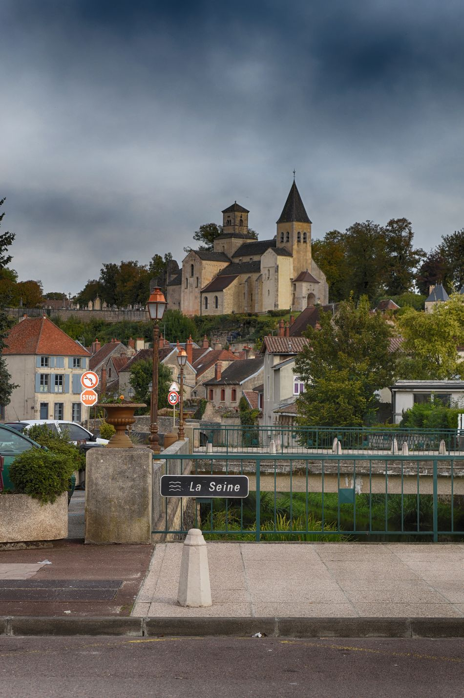 Architecture Building Exterior Built Structure Church City Cloud - Sky Countryside Day EyeEmNewHere France French La Seine No People Outdoors Riverside Rural Rural Scene Sign Sky Travel Photography Tree Typical Village