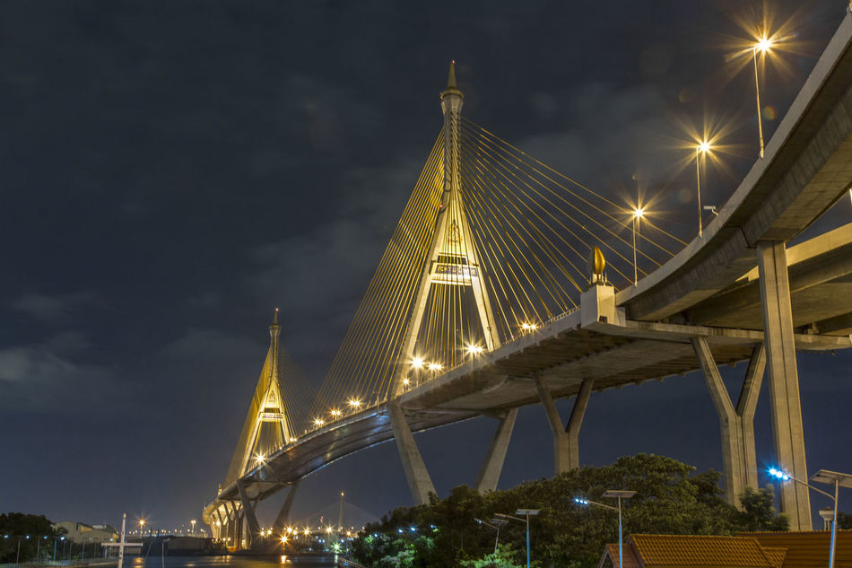 Beautiful stock photos of bangkok, Architecture, Bangkok, Bhumibol Bridge, Bridge - Man Made Structure