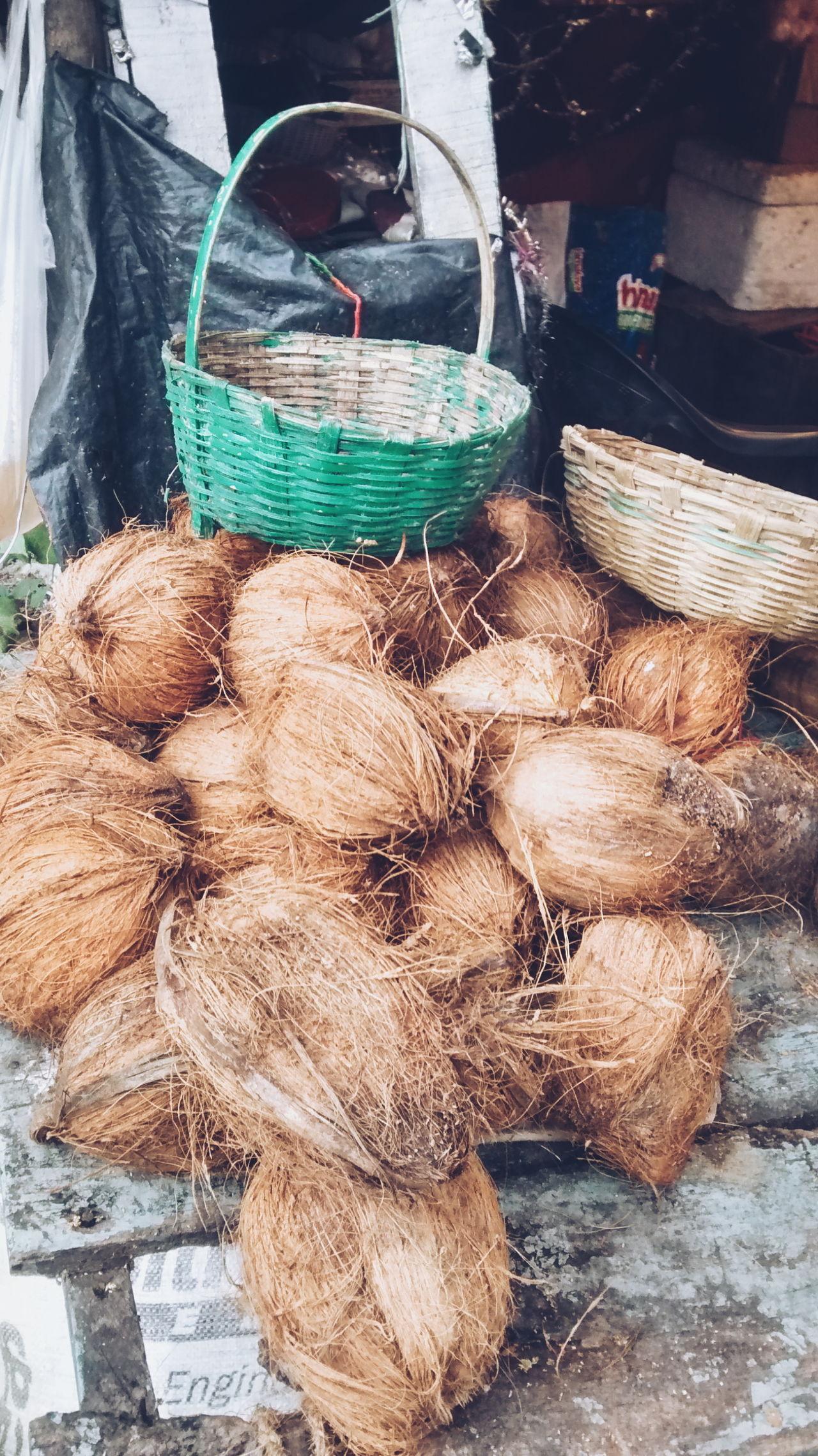 Coconuts Bamboo Basket India
