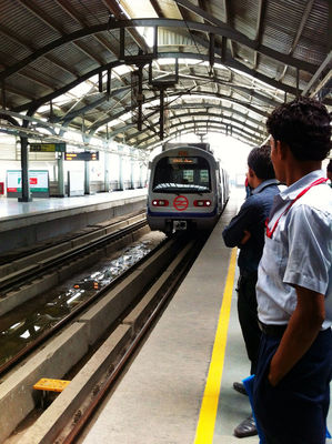 subway at Nehru Place Metro Station by rajgohil