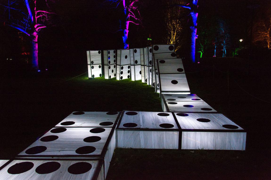 Colors Illimination Light Show ^.< Nightphotography No People Symbol Dominos Trees Bäume Beleuchtet