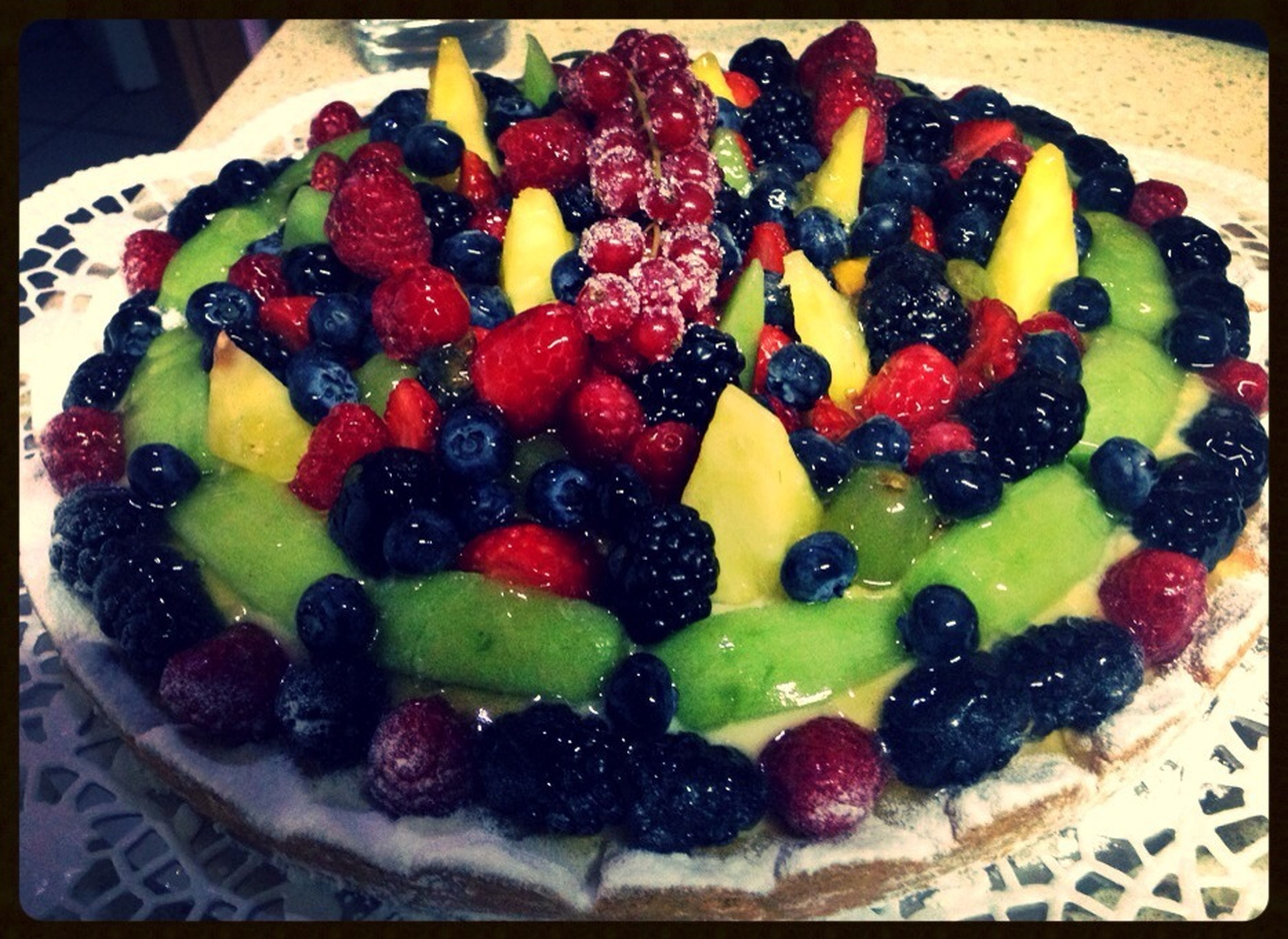 food and drink, food, freshness, indoors, sweet food, fruit, dessert, ready-to-eat, strawberry, indulgence, still life, raspberry, unhealthy eating, blueberry, berry fruit, plate, temptation, cake, close-up
