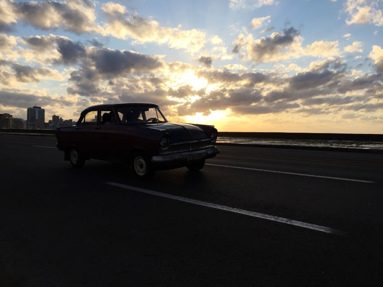 Sunset Sad & Lonely Car Sky Sunlight Transportation Land Vehicle Cloud - Sky Beauty In Nature Nature Sunbeam No People Outdoors Day Final Goodbye Stream Vintage IPhone EyeEmNewHere
