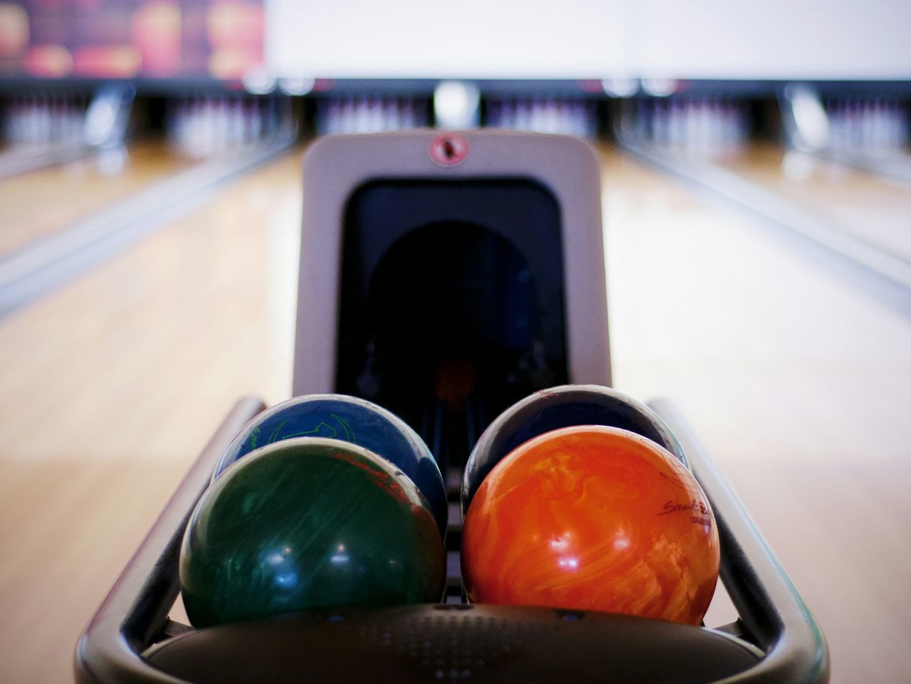 Beautiful stock photos of bowling, Bowling Alley, Bowling Ball, Circle, Focus On Foreground