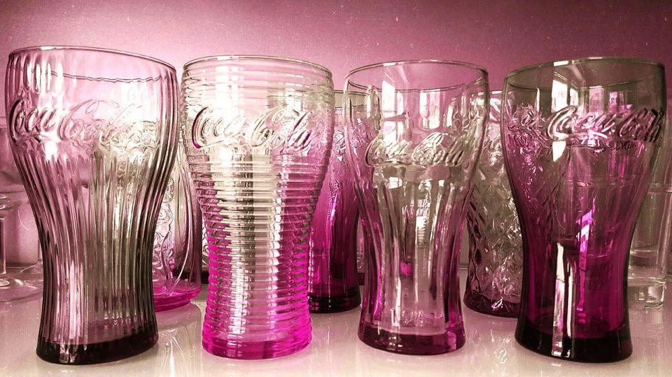 Glasses Coca Cola Coloursplash Colurful Colourpop Pink Handyshot In My Kitchen