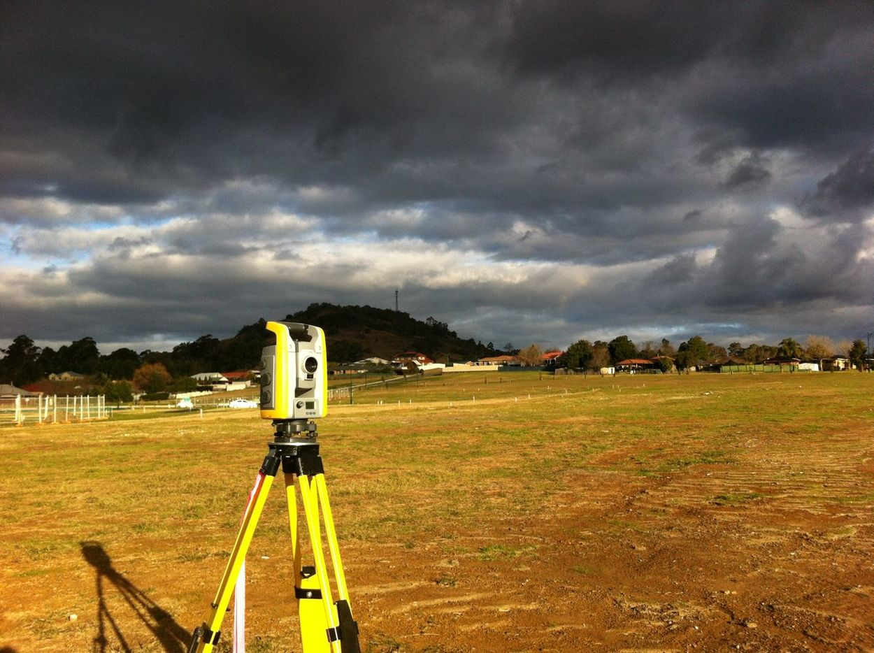 Grass Storm Surveying Surveyor Total Station Tranquil Scene Tranquility Trimble Weather
