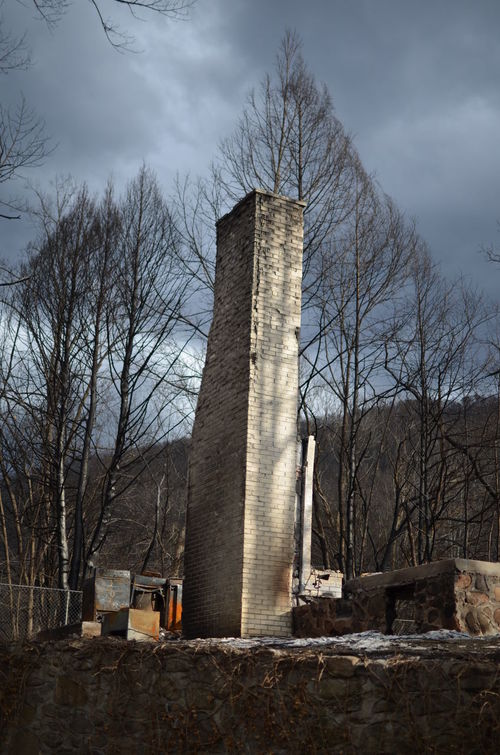 Bare Tree Burned House Chimney Day Destroyed Destroyed Buildings Destroyed By Fire Destruction Nature No People Outdoors Sky Tree