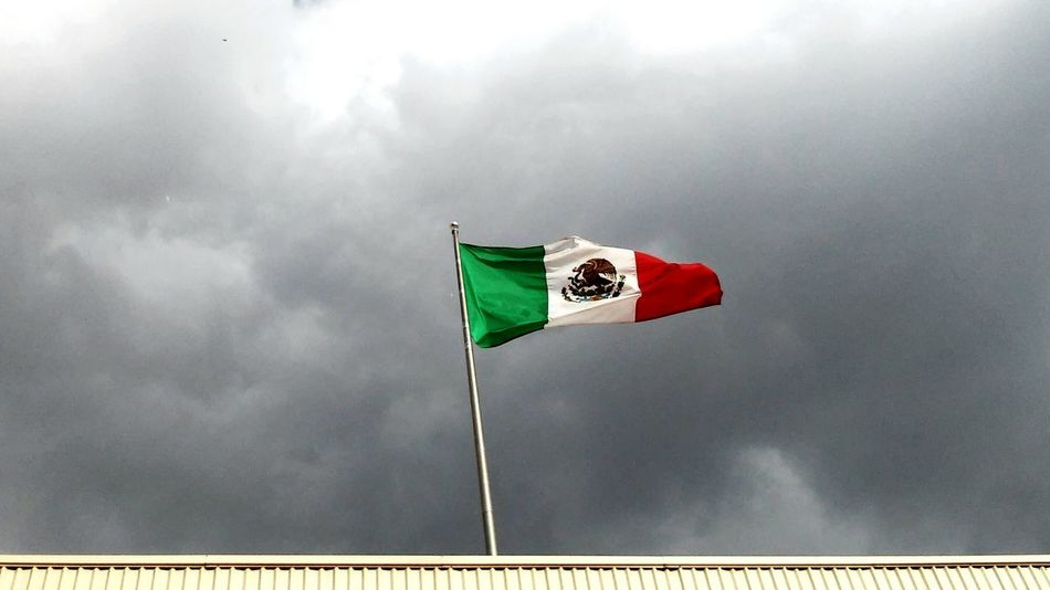 Beautiful stock photos of mexican flag, Cloud - Sky, Durango, Flag, Green Color