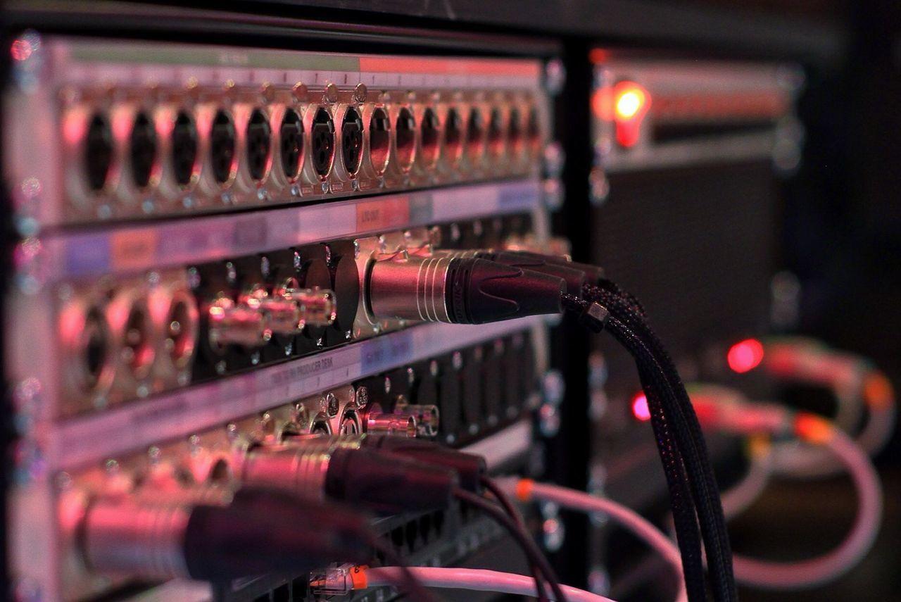 Close Up Technology Soundsystem Sounddesk Close Up Photography Plugs Sockets