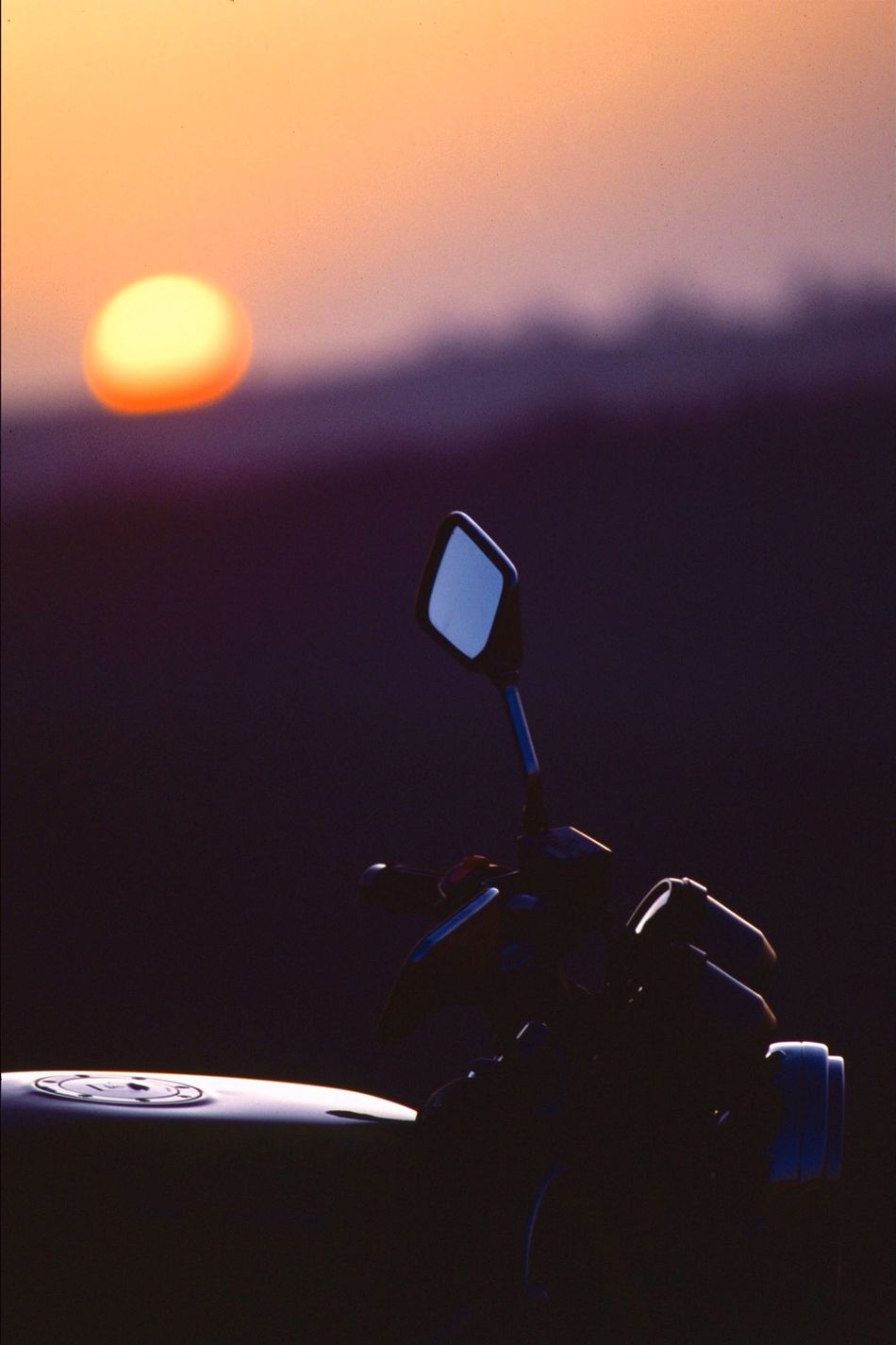 A profile of my old friend. Getting Inspired Check This Out Motorcycles Sunset Autumn Light And Shadow Melting Film No Filter Nostalgia