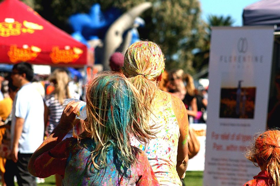 Family fun day with coulor Family Colour Festival Carnival