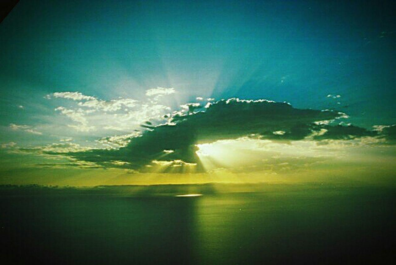 sunbeam, sky, sunlight, nature, sun, beauty in nature, scenics, outdoors, landscape, silhouette, cloud - sky, no people, day