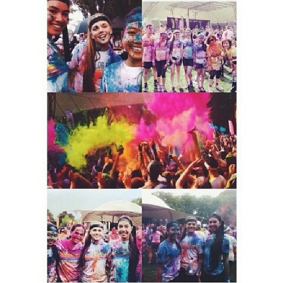I love this. Credits to Adidas Colourrun Colourthrow 2014 Happy