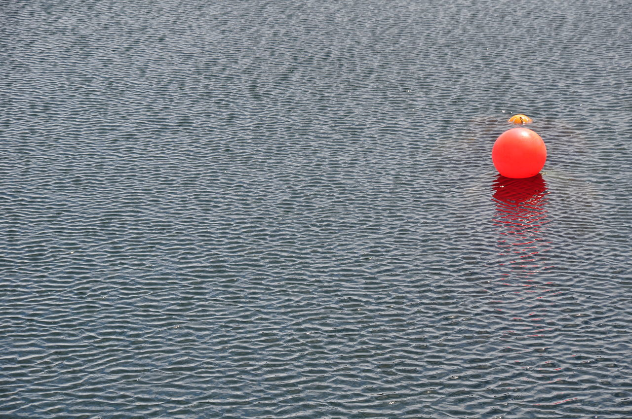 red, water, rippled, no people, sea, day, outdoors, nature