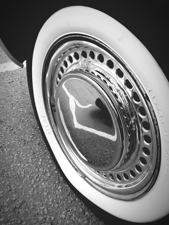 Transportation High Angle View No People Close-up Tire Dark Dark And Light Old Vintage Car Metal