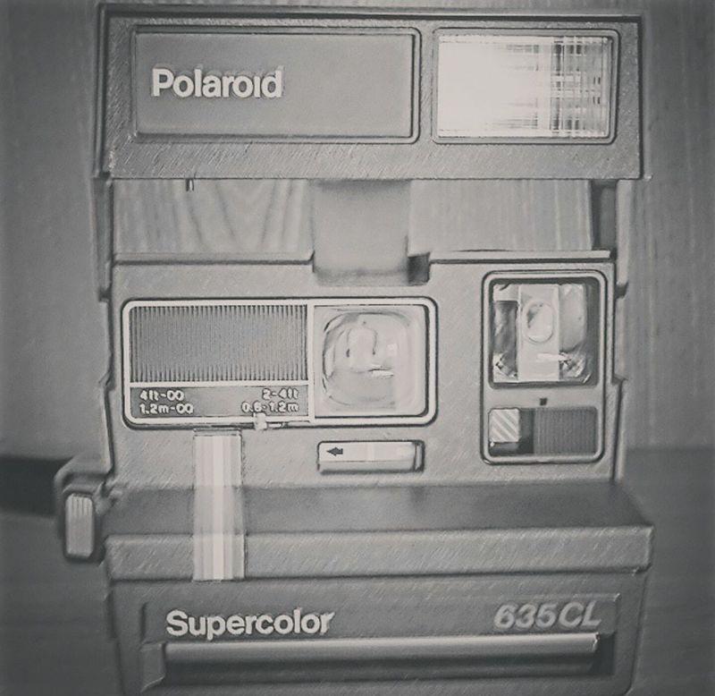 No People Close-up Polaroid Camera Nostalgie Old Camera Black & White Instant Photography