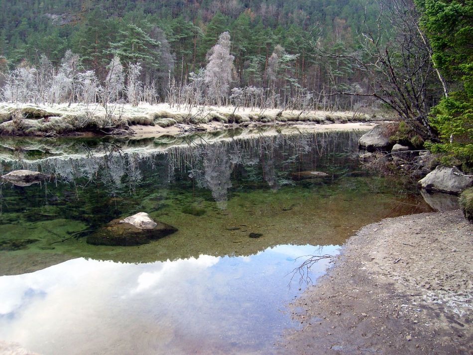 AEnes Cold Days Cold Temperature Nature Outdoors Reflection Rosendal Water