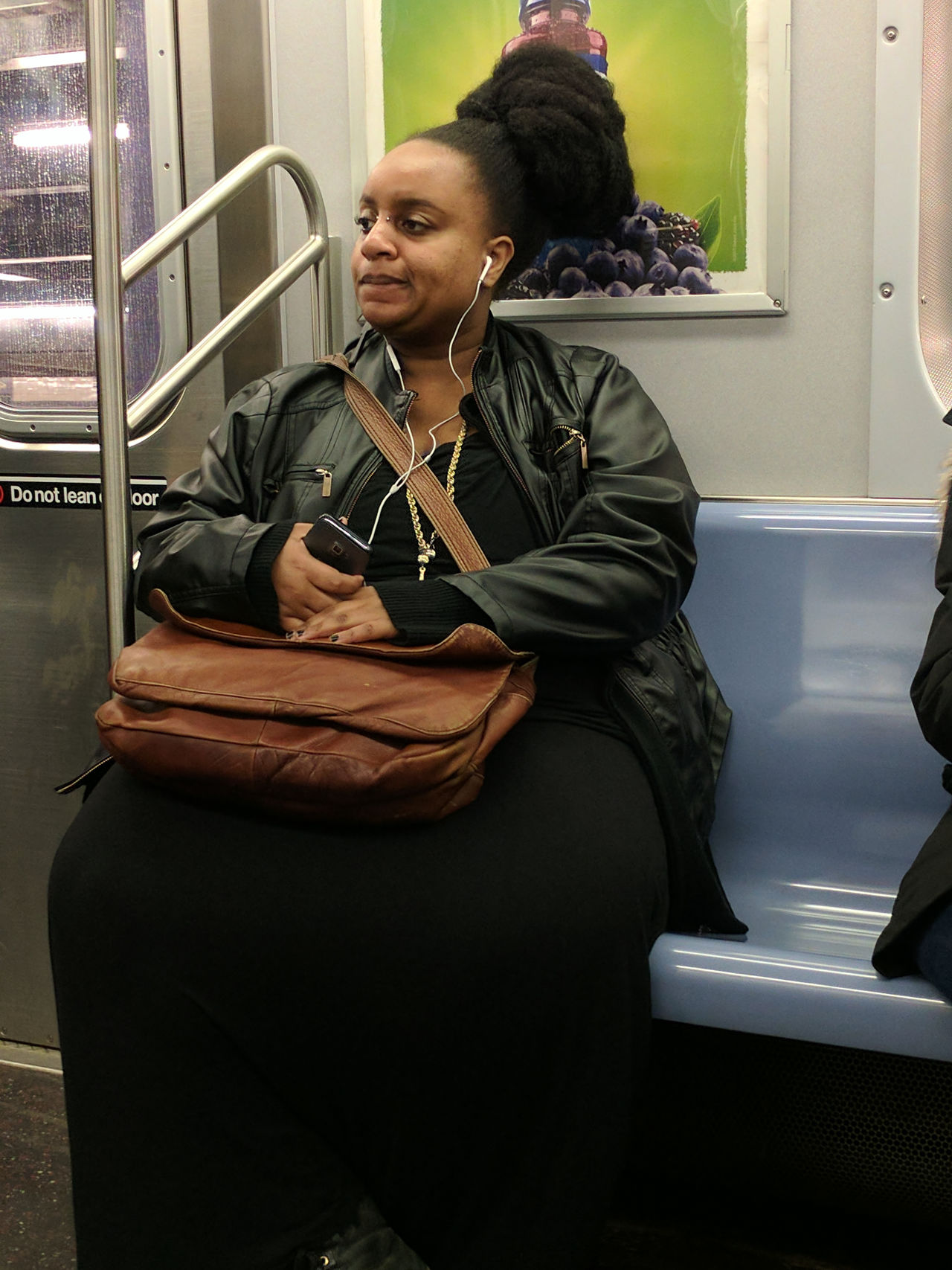 Beautiful Woman City Life City Portraits Commuting F Train New York City On The Train One Person One Woman Only Portrait Public Transportation Single Person Sitting Subway Subway Train Transit