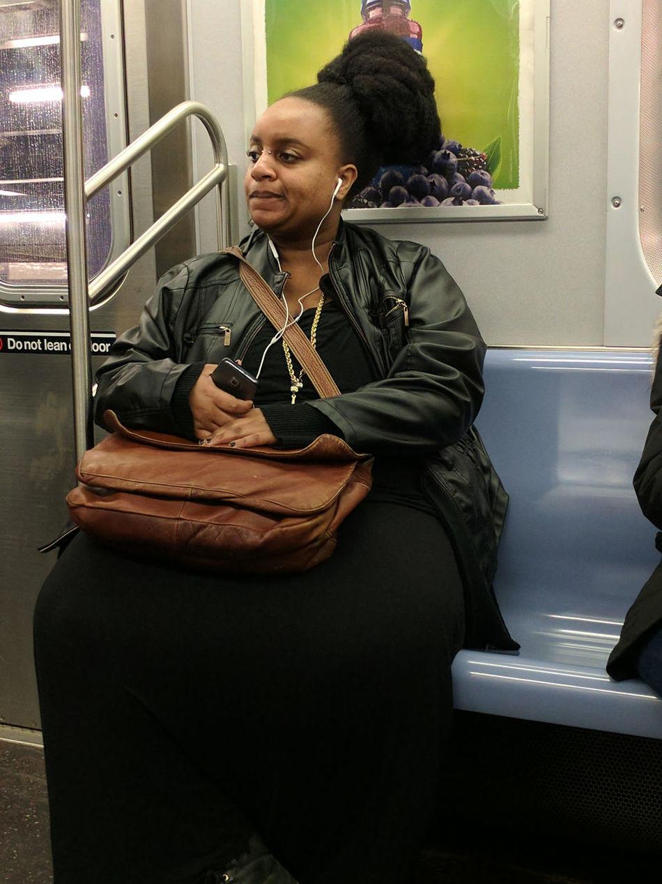 Beautiful Woman City Life City Portraits Commuting F Train New York City On The Train One Person One Woman Only Portrait Public Transportation Single Person Sitting Subway Subway Train Transit
