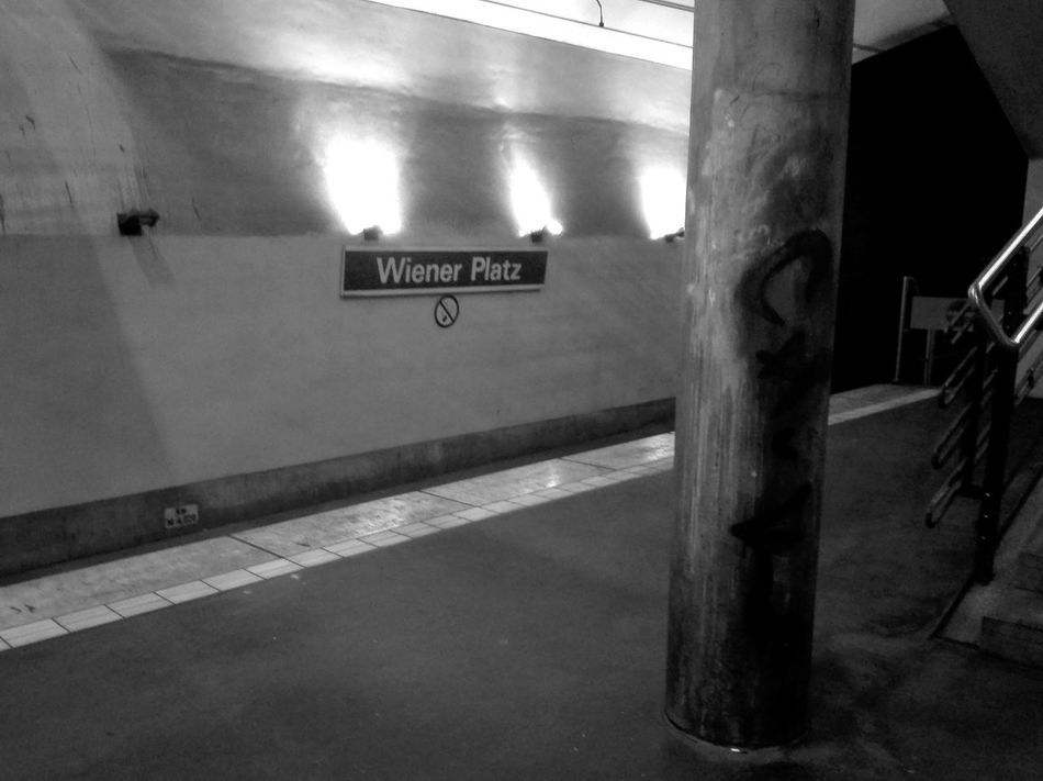 EyeEmNewHere Architecture Indoors  Night Train Station Black And White Photography Light In The Darkness