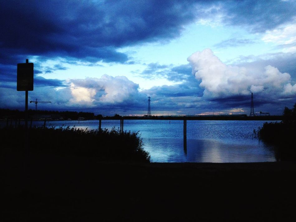 Sky Cloud - Sky Water Silhouette Nature Built Structure Outdoors Architecture No People Beauty In Nature Sea Scenics Tranquility Travel Destinations Day Building Exterior Amsterdamcity Camping View Landscape