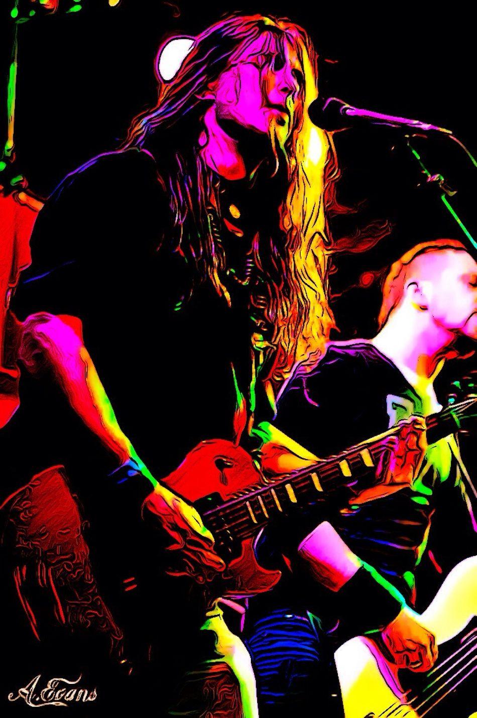 Music Live Music Metal Les Paul In Action Guitar Play Hangar110 Attilio Negri