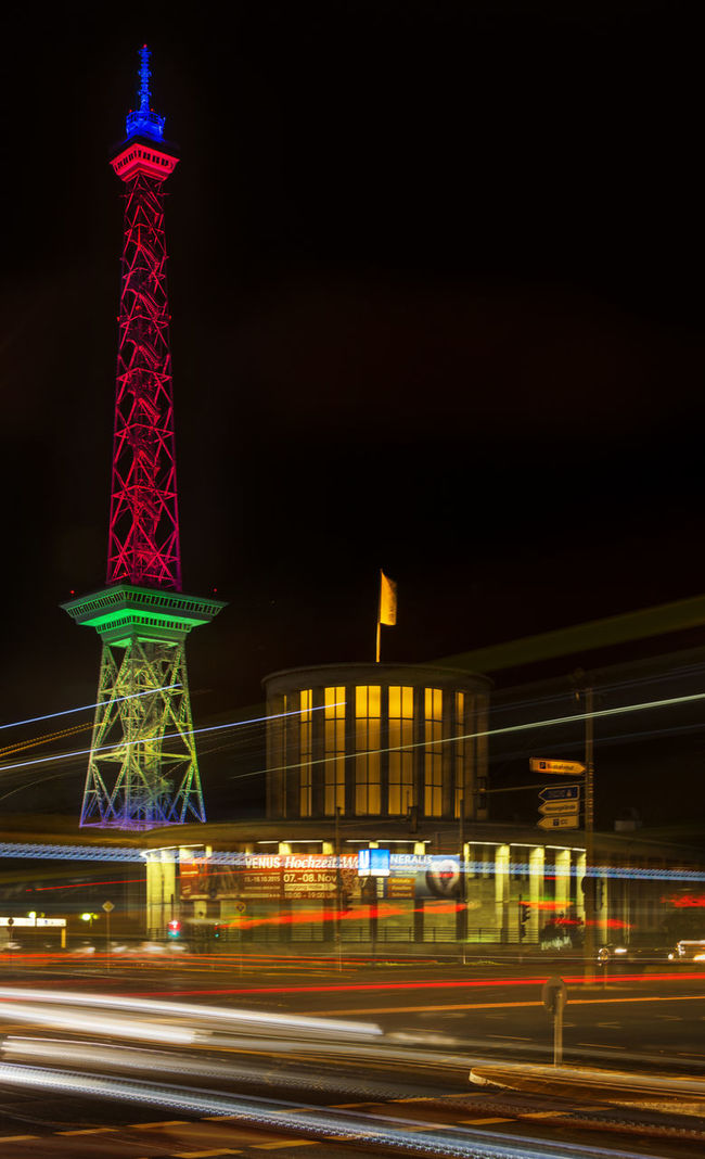 Architecture Building Exterior Built Structure City Festivaloflights Funkturm Illuminated Langer Lulatsch Light Trail Long Exposure LongTime  Messe Berlin Motion Nachtfotografie Night Nightphotography No People Outdoors Speed Tourism Tower Travel Travel Destinations