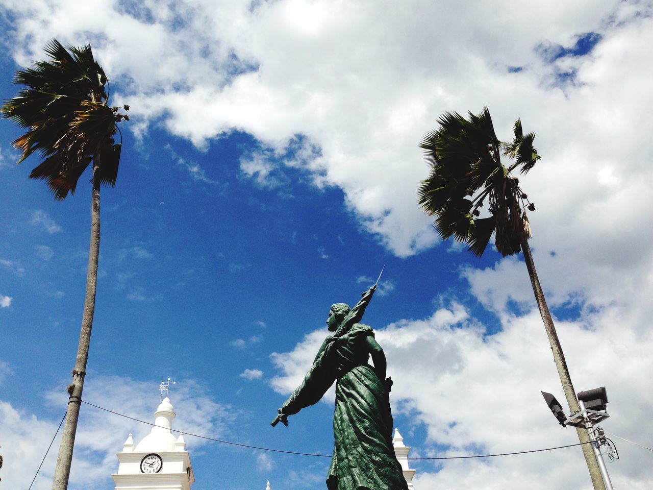 Clouds Policarpa Guaduas Colombia Statue IPhoneography Heroine Wind Palm Trees