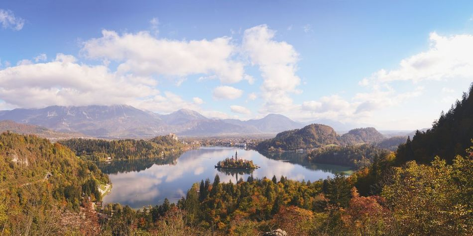 Landscapes With WhiteWall Win Slovenia Bled Bled, Slovenia Hiking Mountains Moumtain Countryside Peaceful Dramatic EyeEm Best Shots Landscape Popular Photos Vacation Travel Nature's Diversities Sky Sunshine Autumn Autumn Colors Panorama A Bird's Eye View 43 Golden Moments Miles Away