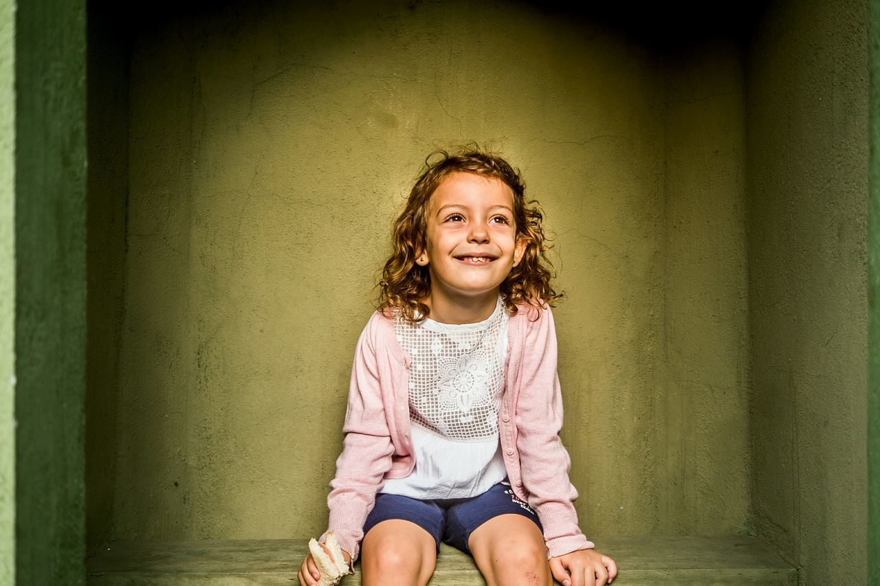 Portrait One Girl Only Child Childhood Cute Smiling Curly Hair Fragments Of Life Color Open Edit My Girl Contemplation