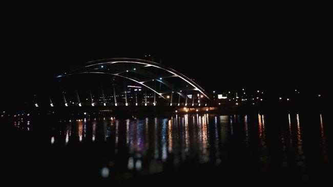 Bridge Water Bokeh Rochester, NY Rochester Night Lights Night City Night City New York Reflections City Nights River Genesee River