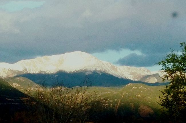 Pikes Peak Pikes Peak In May Pikes Peak In Colorado