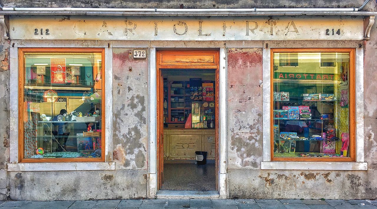 Venice Burano Italy Old Shop Old Buildings Architecture Door Outdoors Day Small Business Store No People