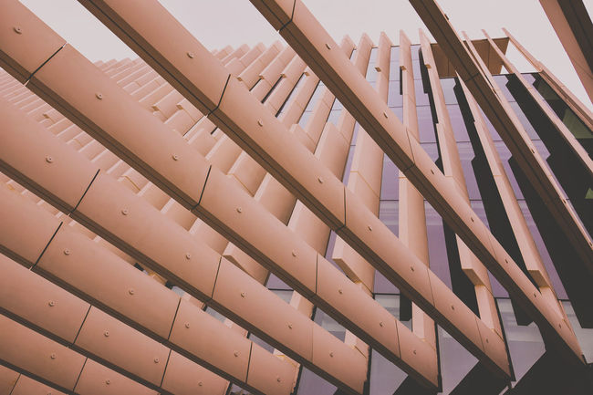 Architecture Building Built Structure Development Environmental Conservation Geometry Indoors  Low Angle View Modern Pattern Railing Roof Staircase Stairs Steps Steps And Staircases Structure Technology Wall Window