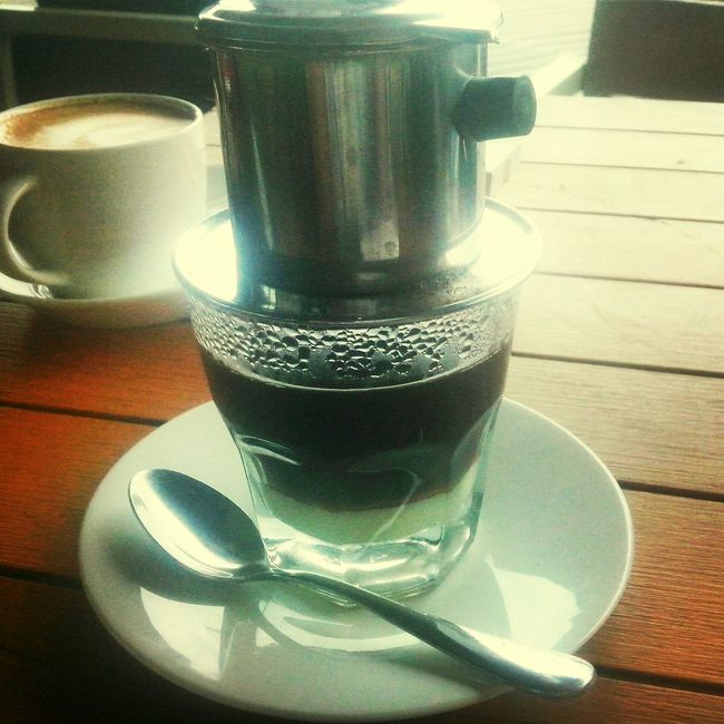 Brewed vietnam drip. Coffee Relaxing INDONESIA Hanging Out