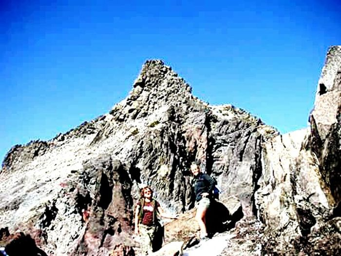 Second Acts Two People Adventure Clear Sky Climbing A Mountain Mountain Peak Oregon Beauty Age Is But A Number 9,000ft Friends ❤
