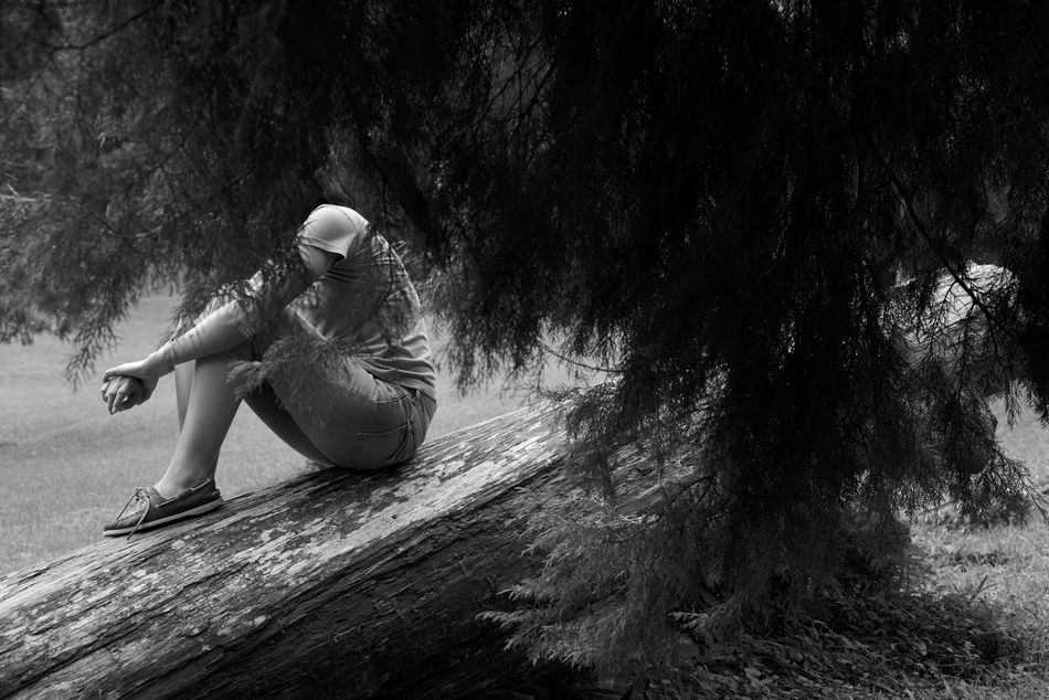 another face of bali Abstract Portrait Adult Black And White Copy Space Bali Evergreen Faceless Fallen Tree Bali, Indonesia INDONESIA Makeportraits Monochrome Moody Portrait Nature One Person One Person Only Outdoors Beauty In Nature Indonesia_photography Pine Tree Portrait Of A Woman Sitting Sitting On A Log Tree Young Adult