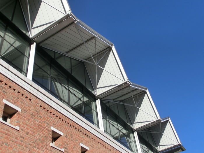 Building Buildings Edges Form Jagged Shape Sharp Winchester