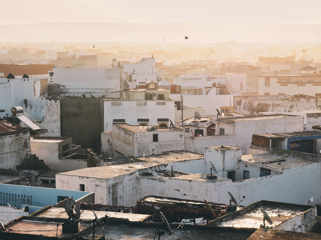 Cityscape City Aerial View Architecture No People Outdoors Building Exterior Extreme Weather Sky Day Travel Photography City Sunrise Morning Light Golden Hour Rooftop View  Rooftop Morocco Essaouira Building Terrace Urban Skyline Roof Travel Destinations Cityscape City High Angle View