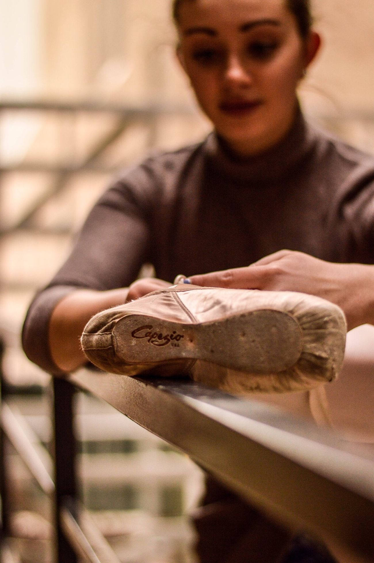 Human Hand One Person Focus On Foreground Industry Human Body Part Young Adult Indoors  Social Issues Day Close-up People Adult Ballet Dancer Ballet Shoes
