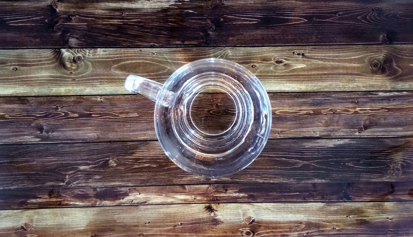 Water Glass With Water Indoors Circle Healthy Lifestyle Wooden Tables Wood - Material No People Day Close-up
